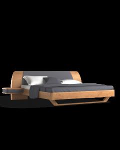 Łóżko Modesta, z HPL frontami szafek nocnych