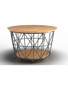 Metalowy stolik kawowy na kółkach